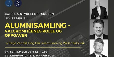 Alumnisamling - Valgkomitéenes rolle og oppgaver tickets