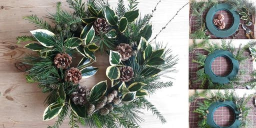 Christmas Indoor Wreath Workshop Ramsbottom