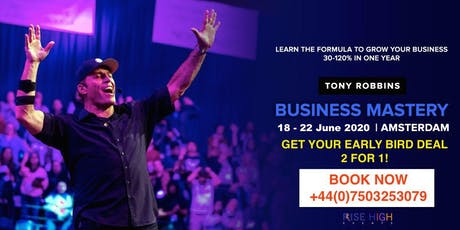 Tony Robbins Business Mastery Amsterdam 2020 tickets