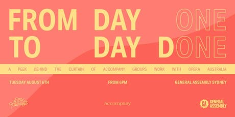 #TDKtuesdays August - Accompany Group - 'From Day One to Day Done' tickets