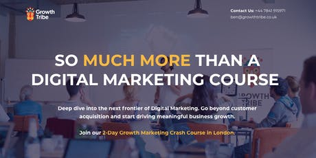 2 Day Growth (Digital) Marketing Crash Course tickets