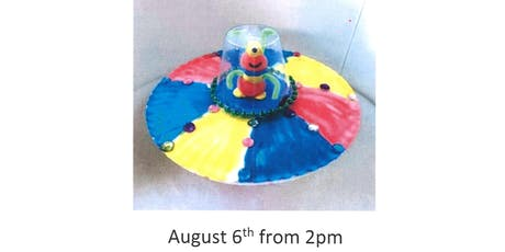 Stroud Library- 'Space Chase' Summer Reading Challenge Craft-Spaceships tickets