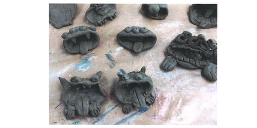 Stroud Library- Space Chase Summer Reading Challenge Craft- Clay Alien