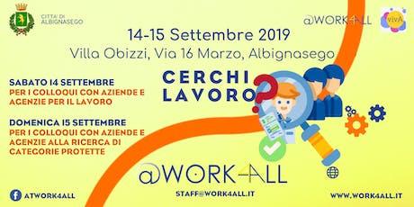 @Work4All - 14 e 15 Settembre 2019 biglietti