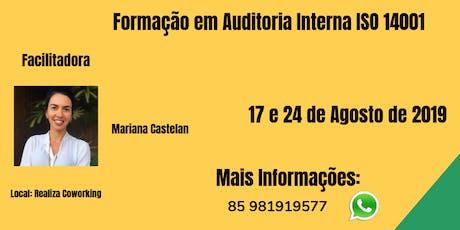 Formação em Auditora Interna ISO 14001 ingressos
