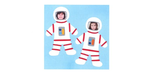Stroud Library- Space Chase Summer Reading Challenge Craft- Astro kids