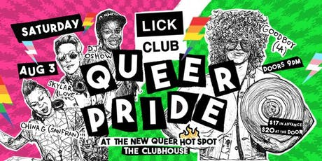 Lick Club / Vancouver Queer Pride Dance Party tickets