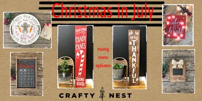 Christmas in July at The Crafty Nest - 25th (Whitinsville)