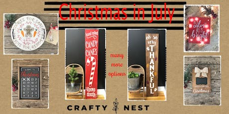 Christmas in July at The Crafty Nest - 25th (Whitinsville) tickets