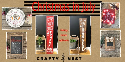 Christmas in July at The Crafty Nest - 23rd(Northborough)