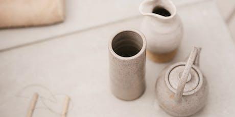 Not Yet Perfect- Pottery Hand building Workshop, Breakfast Bowl & Milk Jugs tickets
