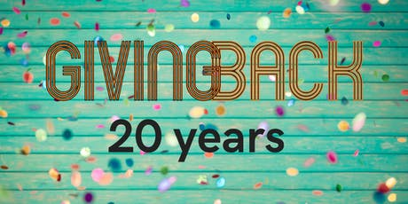 20 Jaar Giving Back | Lustrum tickets
