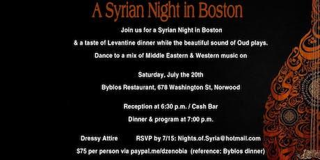 A Syrian Night in Boston tickets