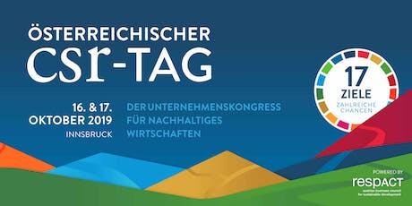 Österreichischer CSR-Tag 2019 Tickets