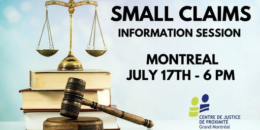 Free information session : SMALL CLAIMS COURT