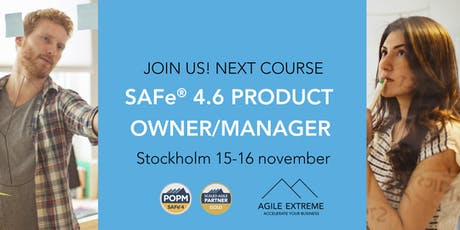 SAFe 4.6® Product Owner/Manager tickets