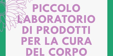 Piccolo laboratorio per la cura del corpo billets