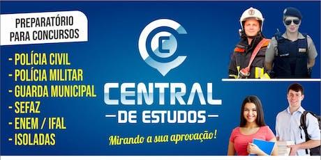 SIMULADO SOLIDÁRIO FOCO PMAL - CENTRAL DE ESTUDOS MCZ ingressos