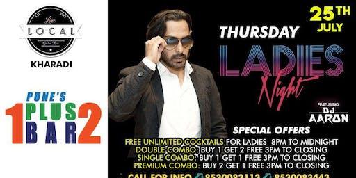 Thursday ladies night: Dj Aaron