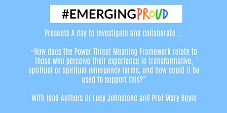 How can the Power Threat Meaning Framework be applied to experiences perceived to be transcendent/ transformative, or spiritual, and how could it be used to support this? tickets