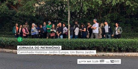 Caminhada Histórica: Jardim Europa, Um Bairro Jardim → Jornada do Patrimônio ingressos