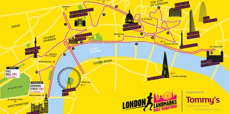 London Landmarks Half Marathon 2020 - Free charity place (brainstrust) tickets