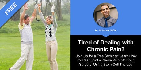 Treat Joint & Nerve Pain, Without Surgery, Using Stem Cell Therapy tickets