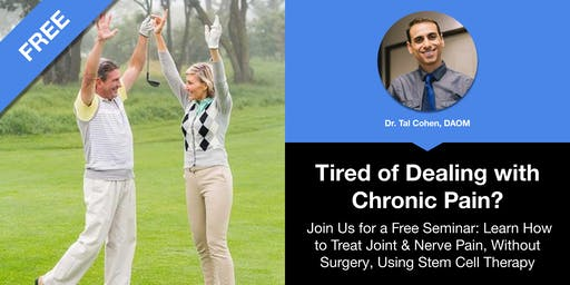 Treat Joint & Nerve Pain, Without Surgery, Using Stem Cell Therapy