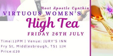VIRTUOUS WOMEN HIGH TEA tickets