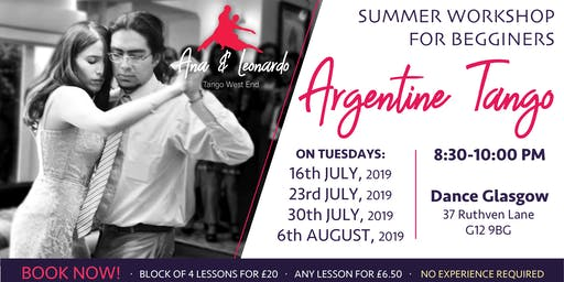 Tango Workshop: Individual Lessons + bkng. fee