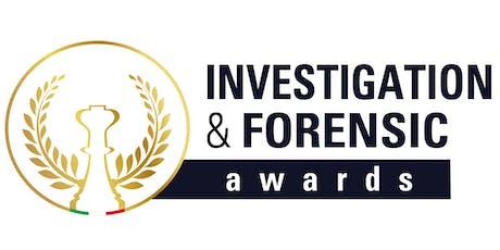 Investigation & Forensic Awards 2019 - Cena di gala biglietti