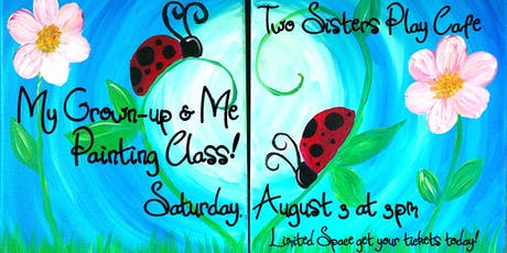"""My Grown-up & Me Painting Class """"Ladybug Love"""" tickets"""