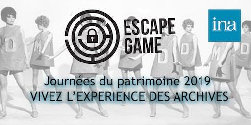 INA - Journées du patrimoine 2019 : ESCAPE GAME