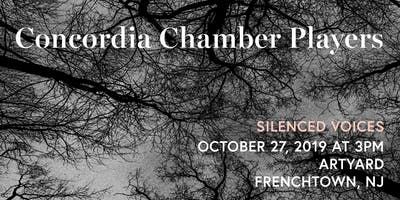 Concordia Chamber Players @ ArtYard: Sunday, October 27, 2019