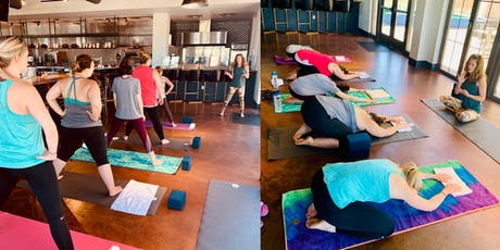 Yoga and Brunch at TRES Tempe (Mediterranean) with Yoga's Arc tickets