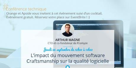 """Meetup - """"L'impact du mouvement software Craftsmanship sur la qualité logicielle"""" billets"""