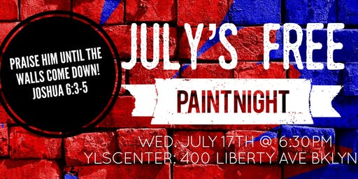 July's FREE Paint Night- Paint Your Blessings