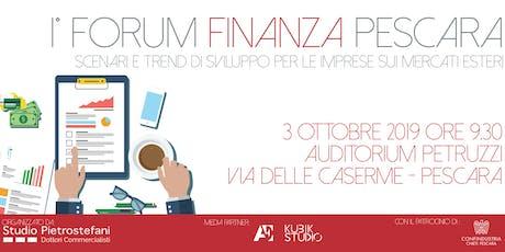 1° Forum Finanza Pescara biglietti