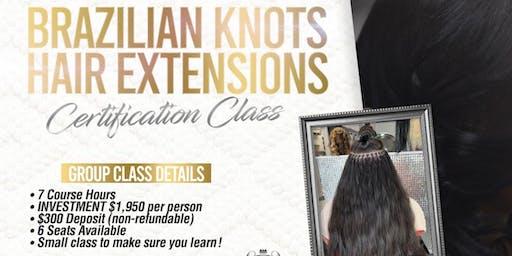 Brazilian Knots Hair Extensions Certification Class