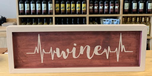 Chalk Wine Sign Craft & Sip