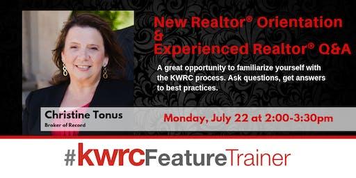 New Realtor® Orientation & Experienced Realtor® Q&!A