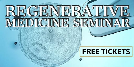 FREE Regenerative Medicine & Stem Cell Dinner Seminar for Pain Relief - Seattle/Gig Habor, WA