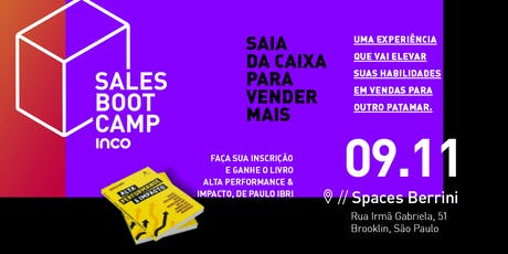 Sales Bootcamp - Vendas, Vendas e + Vendas ingressos