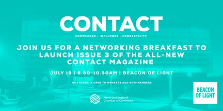 CONTACT - networking breakfast to launch issue 3 tickets