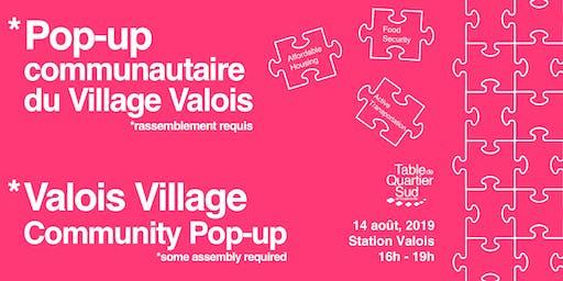 Pop-up communautaire du village Valois / Valois Village Community Pop-Up