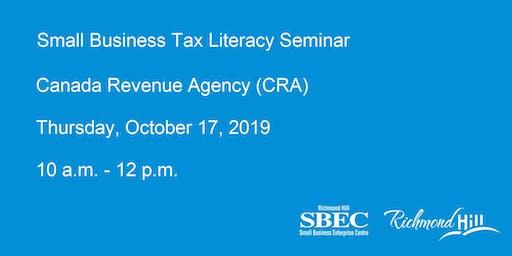 Small Business Tax Literacy Seminar