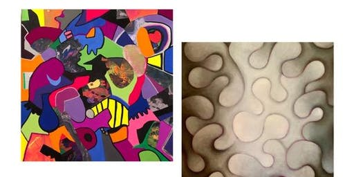 "ARTWORKS Gallery on the Green presents Ellen Gordon ""Crazy Town"" & Lina Morielli ""Ethereal States"""