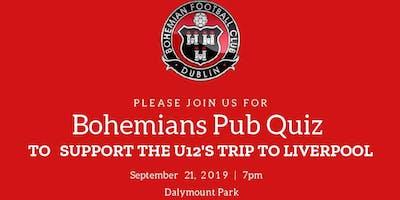 Bohemians U12's Pub Quiz