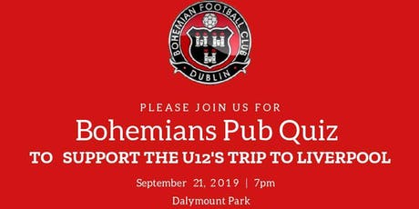 Bohemians U12's Pub Quiz tickets