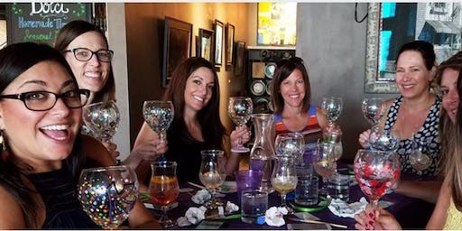 Wine Glass Painting at The Melting Pot 7/23 @ 6pm